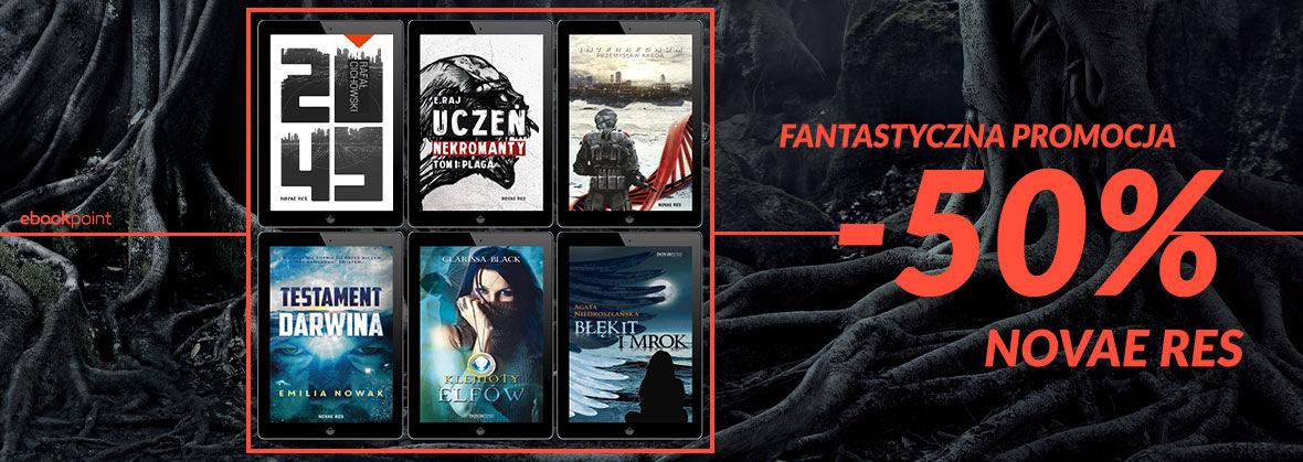 Promocja na ebooki Fantastyczna promocja! [Wydawnictwo Novae Res -50%]
